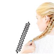 NALATI 4 pcs Fashion French Hair Braiding Braider Tools Roller With Magic Hair Twist Styling Tools Bun Maker Hair Accessories