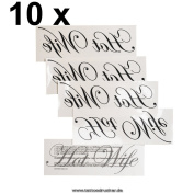 "10 x ""Hot Wife"" Tattoo - Hotwife temporary Tattoo"