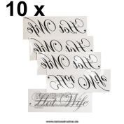 """10 x """"Hot Wife"""" Tattoo - Hotwife temporary Tattoo"""