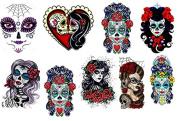 Sugar Skull Lady - Girl Temporary Tattoos