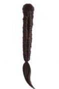 Hair By MissTresses Phat Fishtail Ponytail Hairpiece/ Clip in Plaited Fishtail Ponytail/ Claw Grip Fastening Dark Brown