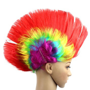 Ouneed Fashion Style Hallowmas Masquerade Punk Mohawk Mohican hairstyle Cockscomb Hair Wig