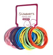 Shimmers - 24 Premium No Metal No Snag Mixed Elastic Hair Band Ties