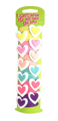12 Bright Heart Motif Hair Clips Hair Grips Snap on Slides