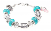 'Surf's Up!' Beach Themed Charm Bracelet with Gift Box Women's Jewellery