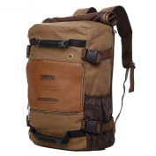 HFJ & YIE & H 22L High Capacity Canvas Bag Hiking Daily Casual Men's Backpack