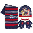 Paw Patrol 2200001576 Chase/Rubble and Marshall Childrens Winter Set includes Beanie Hat/Gloves and Scarf
