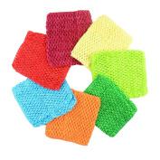 Aisila Pack of 7 15cm Handmade Baby Girl Silk Crochet Tutu Tube Top Chest Wrap for Toddler Infants