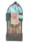 Olive Oil Spa Bath Gift in a Iron Bird Cage! 120ml shower gel, 80ml body cream, 120ml bubble bath, puff