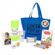 Cancer Patient Gift and Chemotherapy Gift Basket Deluxe Featuring Chemo Beanie-Blue