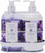 Upper Canada Soap Brompton and Langley Hand/Body Wash Lotion Caddy Gift Set, Lavender Vanilla