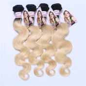 Carina Hair blonde Colour Body Wave Brazilian Ombre Human Hair Wefts 4Pcs/Lot Size:28 28 28 70cm