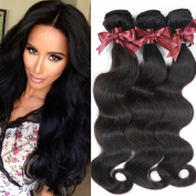 Belinda Hair Peruvian Body Wave Hair 3 Bundles 7A Unprocessed Virgin Peruvian Human Hair Weave Natural Black Colour
