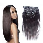 Prida Star Unprocessed Clip Hair Peruvian Natural Straight Virgin Human Hair Grade 7A Baby Hair