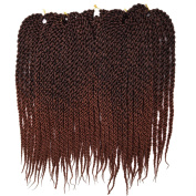 Silike 3D Cubic Twist Braid (3 Packs T1B/30)) Crochet Hair Ombre Synthetic Braid Extension