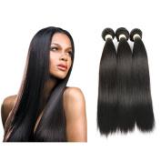 HC Hair Peruvian Straight Hair 3 Bundles 7A Unprocessed Virgin Peruvian Hair Straight Weave Human Hair Natural Black