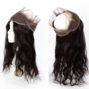 "GEFINE Hair Grade 7A Brazilian Virgin Hair 360 Lace Frontal Closure 22""4""2 Elastic Band Human Hair Frontal Closure Bleached Knots 16inch"