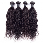 Foxys' Hair 7A Grade Peruvian Natural Wave Human Hair Extensions Wet and Wavy Curly Virgin Hair Bundles for Women 3 bundles
