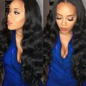 B & P Peruvian Hair Bundles with Closure 7A Unprocessed Virgin Peruvian Body Wave 3 Bundles with Free Part Closure Real Human Hair Extensions Natural Black Natural Feeling