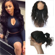 7A Grade 360 Lace Frontal Band Body Wave Natural Hairline With Baby Hair Virgin Brazilian Body Wave 360 Lace Frontal Closure