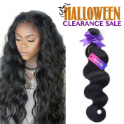 Mornice Hair 1 Bundle of 36cm 8A Grade 100g Brazilian Remy Virgin Hair Real Body Wave Natural Black Human Hair Extensions Weave Weft
