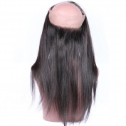 "Beata Hair 60cm x 10cm x 2"" Straight 360 Lace Band Frontal Closure with Baby Hair Natural Colour"