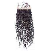 Prida Star Malaysian Kinky Curly Virgin Human Hair 4x 4 Free Part Lace Closure Baby Hair