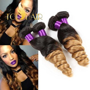 Top Hair 7a 100% Unprocessed Peruvian Virgin Ombre Hair Loose Wave 1b/27 8 to 80cm Hot Sell Peruvian Virgin Hair Curly Wave Human Hair Extensions 50g/pc 1 Bundle 70cm