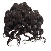 OMGA Brazilian Virgin Curly Hair 3pcs/set 1B #2 #4 105g/set Human Hair Curly Weave
