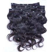 Foxys' Hair 7A Brazilian Virgin Hair Extension Body Wave Clip in Hair Extensions 8pcs Clip In Hair Weaves Natural Colour 120g/set 46cm