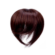 Clip In 100% Virgin Human Hair Top Piece With Simulation Scalp (20cm , Chestnut
