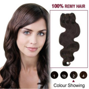 36cm Dark Brown(#2) Body Wave Indian Remy Hair Wefts 100% Real Human Hair Extensions
