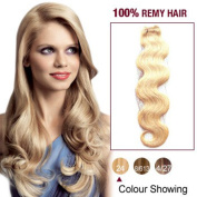 25cm Ash Blonde(#24) Body Wave Indian Remy Hair Wefts 100g Real Human Hair Extensions