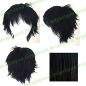 Flyingdragon New Short Messy Spiky Black Cosplay Heat Resistance Wig by FD