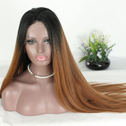 PlatinumHair #1B33 Ombre Straight Wigs Synthetic Lace Front Wigs Heat Resistant Glueless Lace Front Wigs for Women 50cm - 60cm