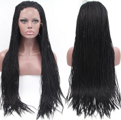 ATOZHair New Arrival Long Braided Synthetic Lace Front Wig Micro Braided Wigs For Black Woman