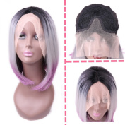 HANNE Lace Wigs Synthetic Bob Wig Lace Front Wig Elastic Net Cap Front Lace Wig Cosplay Party Wigs for Women
