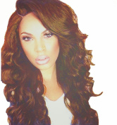 TLT Long Curly Big Wavy Wigs Women Brown Wigs Natural as Real Hair BU104