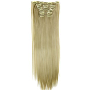 Happy Hours - 60cm Long Straight Full Head Clips in Hair / Sexy Lady Fashion Hair Extensions Wig