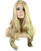 FEOYA Womens Girls Blonde Wig 80cm Long Curly Full Length Big Wavy Blond