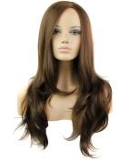 FEOYA Womens Girls Long Curly Wig Hair 80cm Big Wave Full Length Light Brown