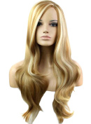 FEOYA Womens Girls Hair Wig 80cm Long Curly Wavy Full Length Blond