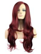 FEOYA Womens Girls Curly Wig Long Hair 80cm Big Wavy Full Length Red
