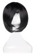 Gracefulvara Black Straight Short Bob Hair Wigs Women's Fashion Cosplay Costume Party Wig