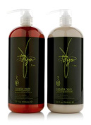 Taya Copaiba Resin Volumizing Shampoo and Conditioner Set With Pumps ~ 950ml