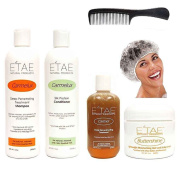 Etae Carmel Shampoo + Conditioner + Treatment + Buttershine + Shower Cap + Shampoo Comb