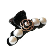Meilliwish Pearl Flower Women Girl Lady Hair Claw Clip(XA23)