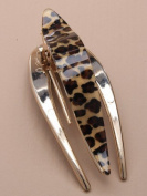 Chichi Gifts Animal Print Forked Hair Clip Clamp Grip Party 9Cm