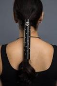Hair Glove 30cm Skull & Rhinestones Biker Hair Accessory 32808
