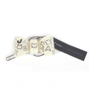 Marc by Marc Jacobs Logo Ribbon Hair Pin, Cream